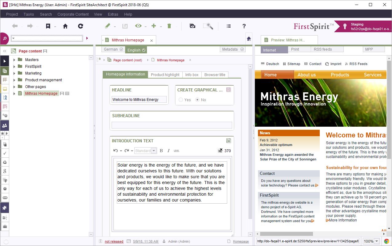 Firstspirit Online Documentation Firstspirit Paradigms