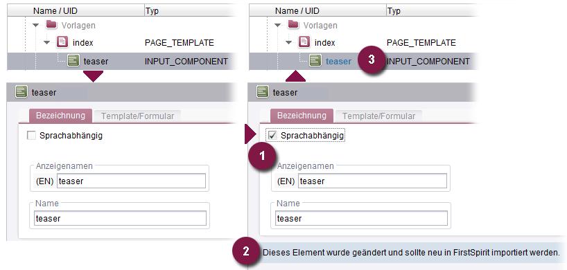 Online Dokumentation FirstSpirit - Änderungen zwischen Import ...